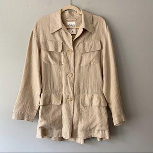 Crisca Escada Vintage Couture Linen Button Down